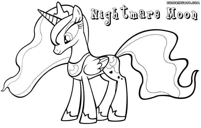 Mlp Coloring Pages Nightmare Moon photo 8