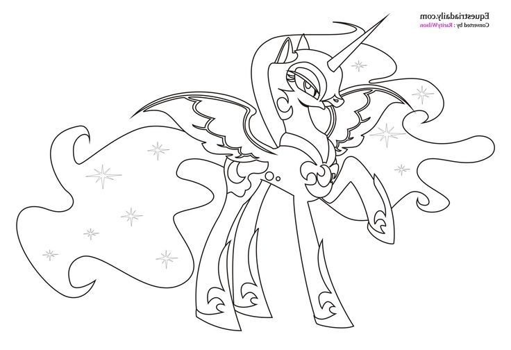 Mlp Coloring Pages Nightmare Moon photo 23