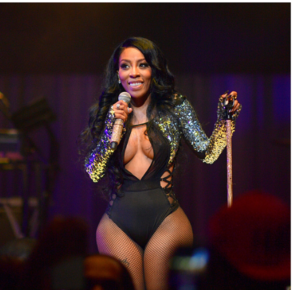 K Michelle See Thru Outfit photo 15