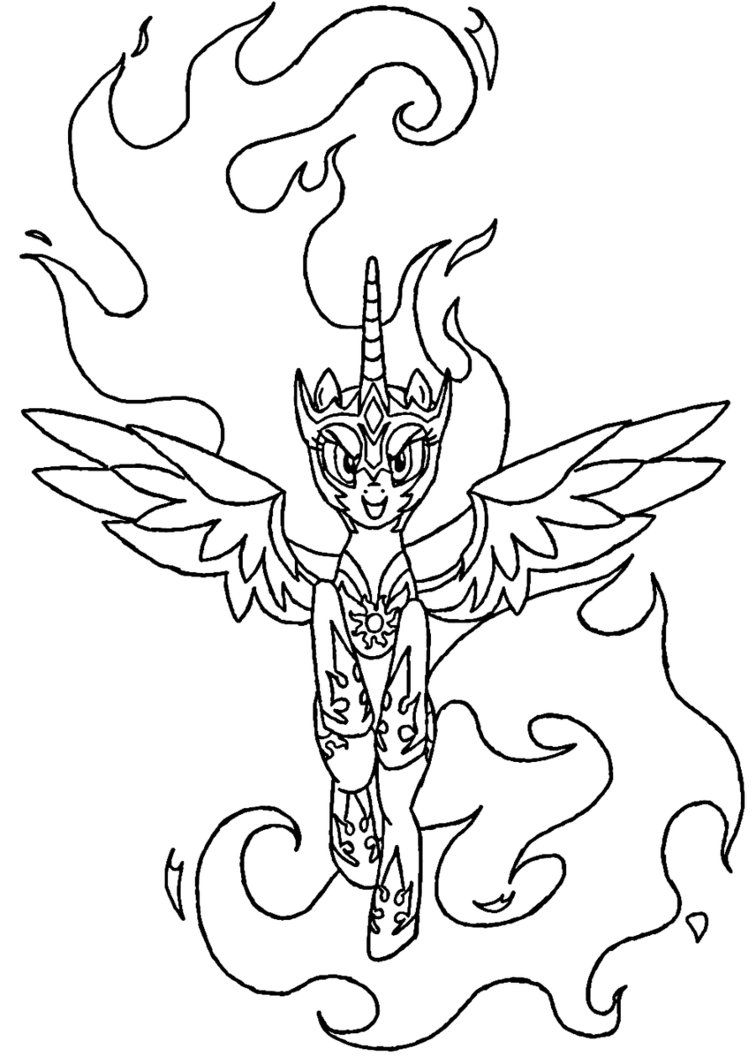 Mlp Coloring Pages Nightmare Moon photo 4
